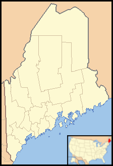 Paris is located in Maine
