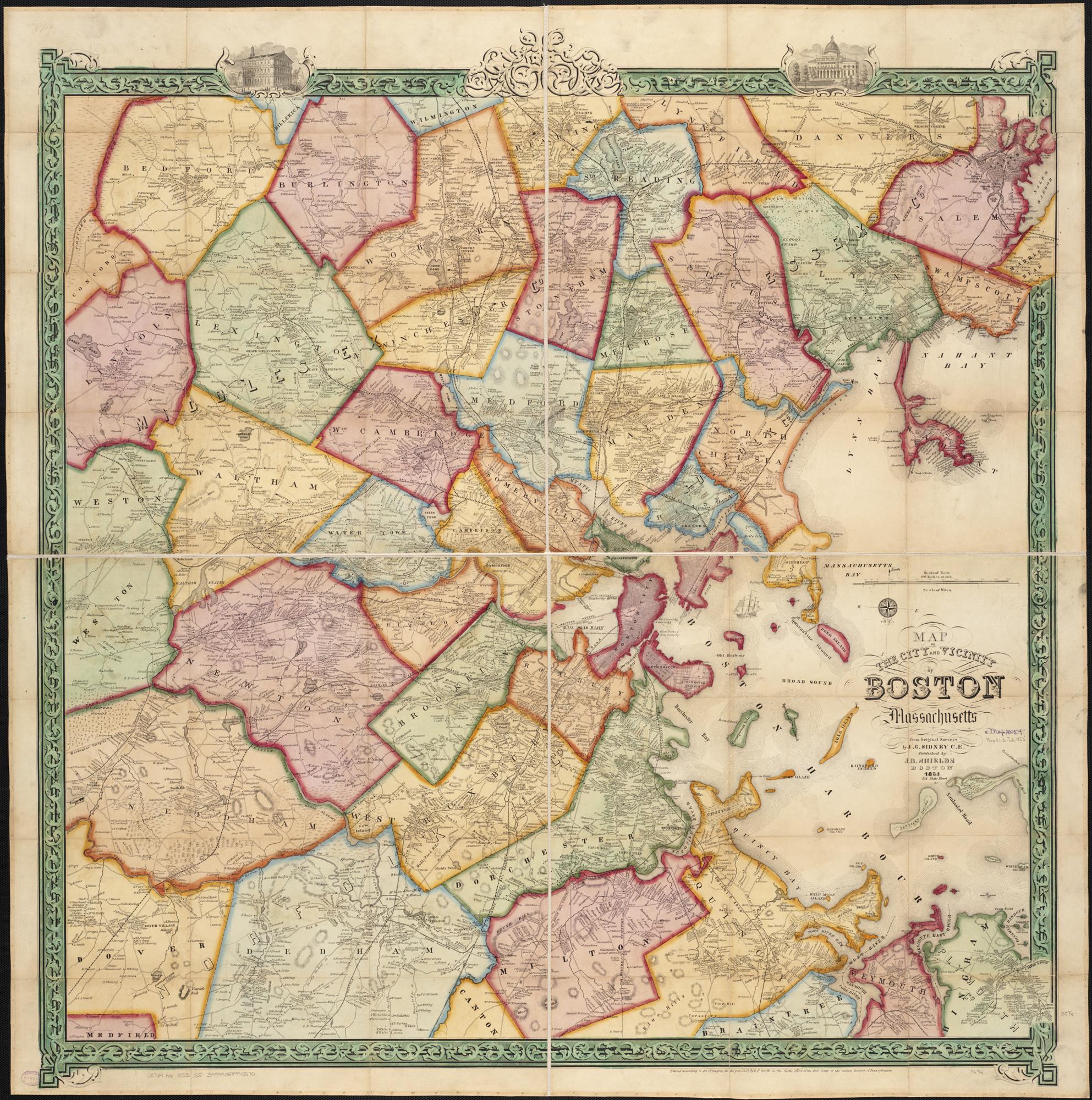 FileMap Of The City And Vicinity Of Boston Massachusetts - Map of boston vicinity