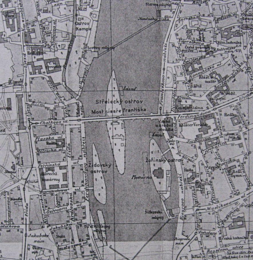 File Mapa Vltavy U Streleckeho Ostrova Kolem 1910 Jpg Wikimedia