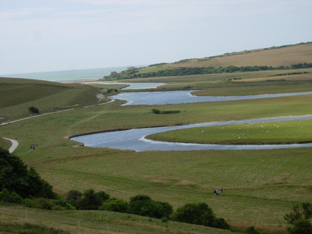 Meanders near the mouth of the Cuckmere - geograph.org.uk - 30825