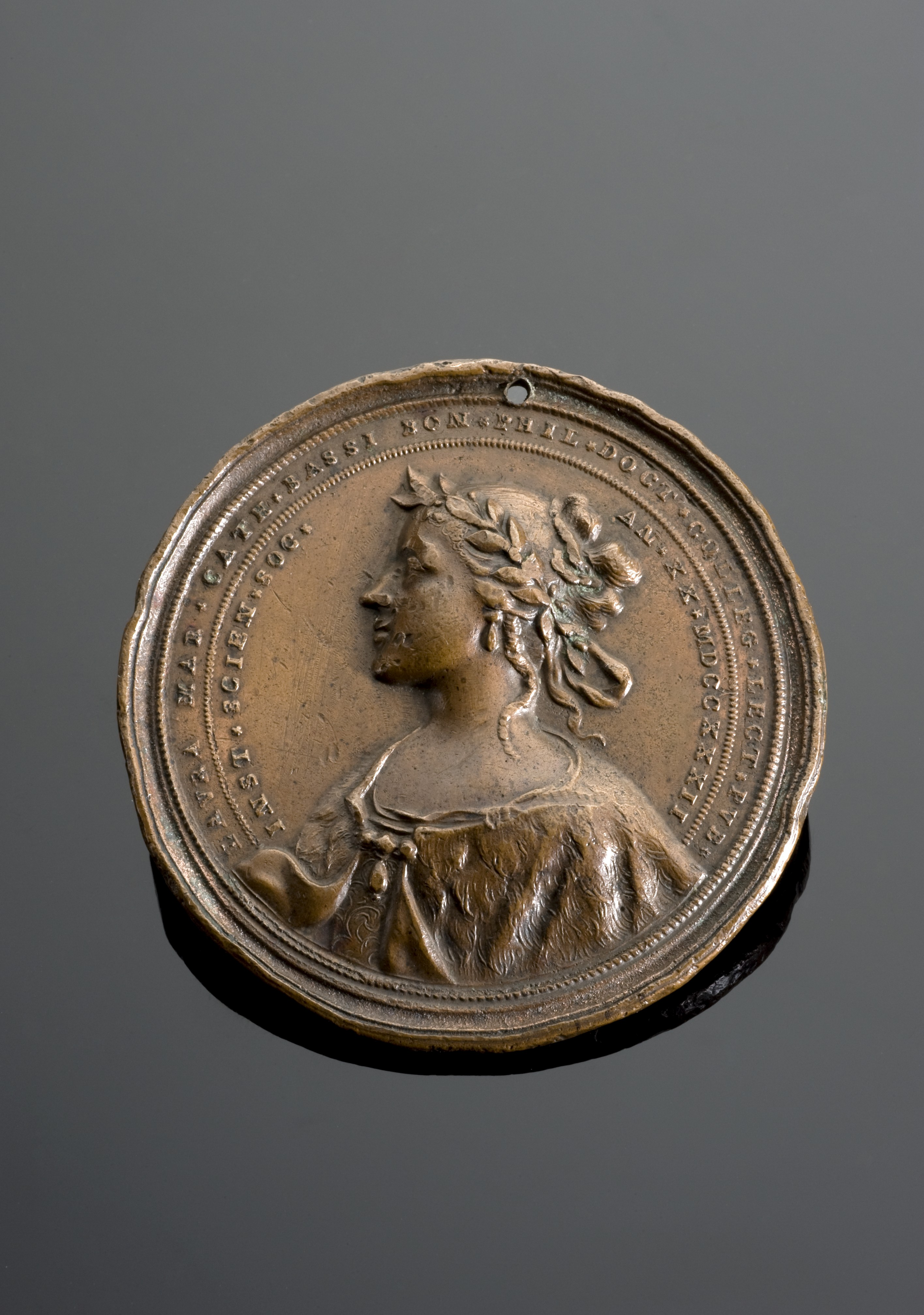Medal commemorating Laura Maria Caterina Bassi, Italy, 1732 Wellcome L0059010.jpg