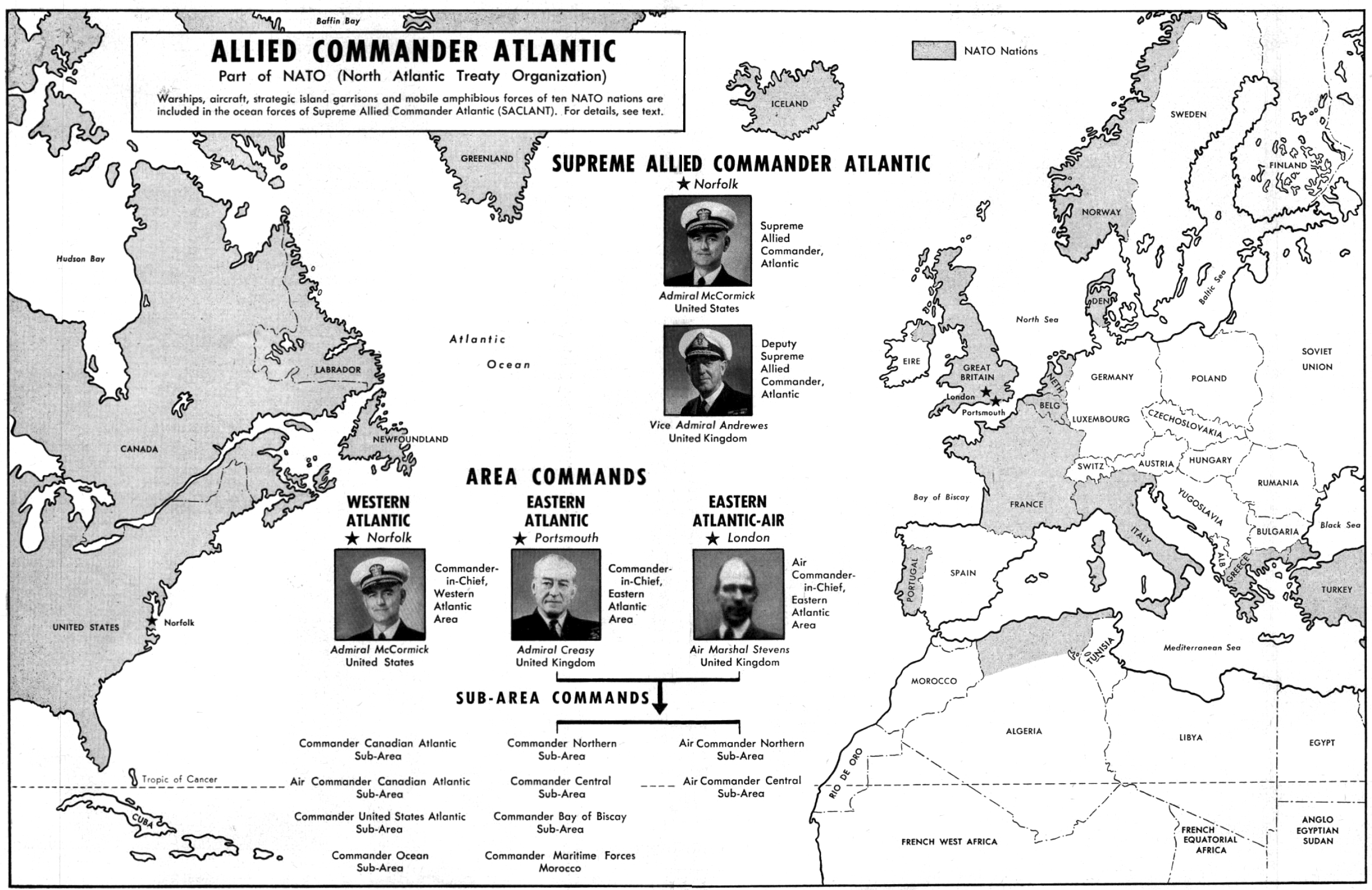 Canadian Government Flow Chart: NATO Allied Commander Atlantic chart 1952.jpg - Wikimedia Commons,Chart