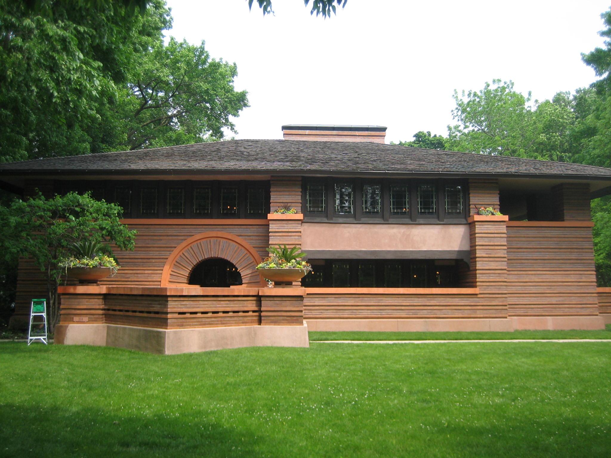 Chicago oak park chicago for Frank lloyd wright style piani per la casa