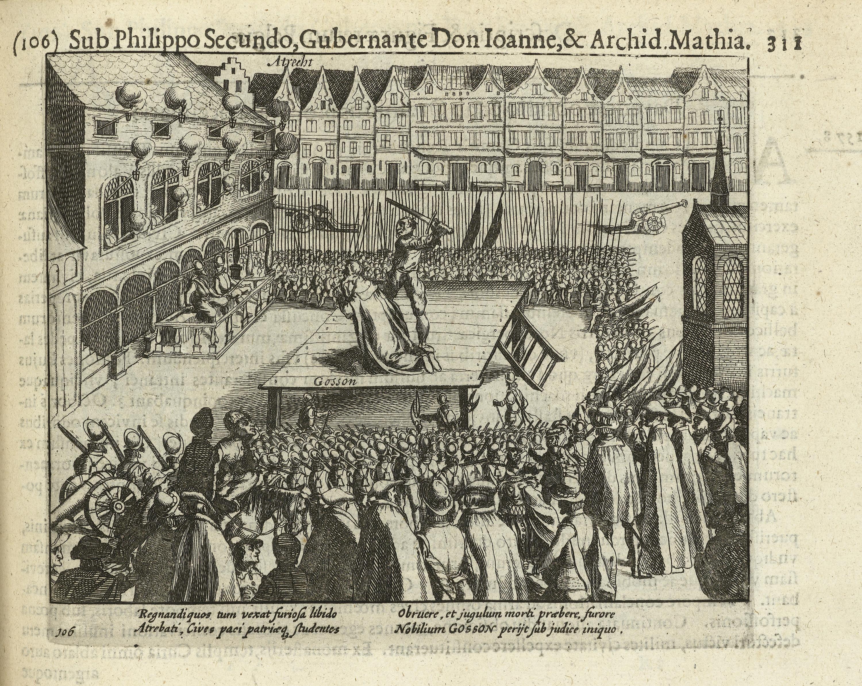 File:Onthoofding van de raadsheer Nicolas Gosson te Atrecht 26 oktober 1578 .jpg