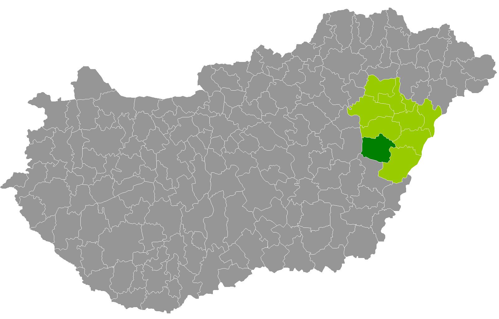 püspökladány térkép Püspökladányi járás – Wikipédia
