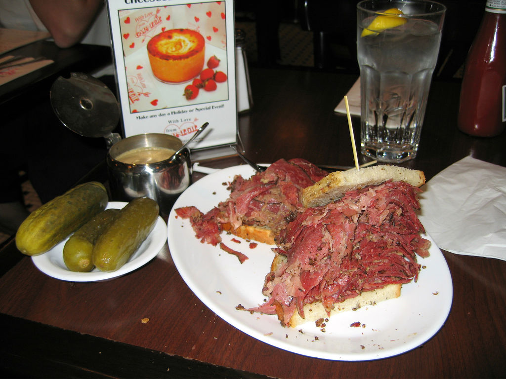 Pastrami Sandwich At The Carnegie Deli In New York City