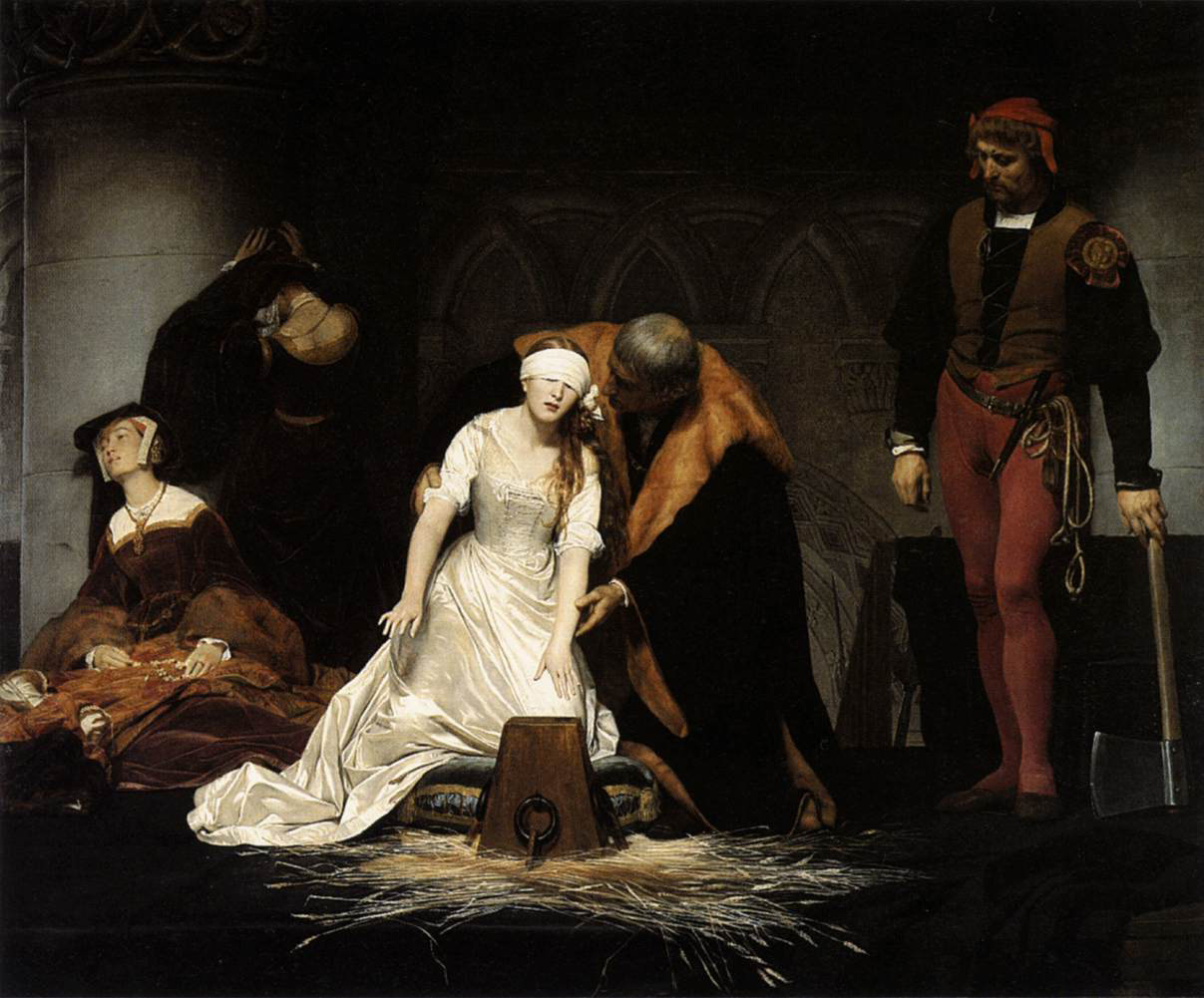 egzekucja Jane Grey, Delaroche, execution of Lady Jane Gray