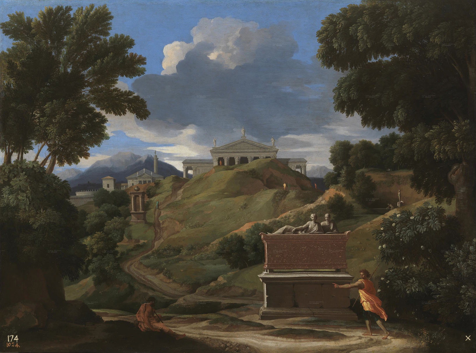 File paysage avec ruines poussin museo del for Paysage