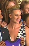 Phoenix Mercury at the White House to honor 2014 Championship (cropped to focus on Penny Taylor).jpg