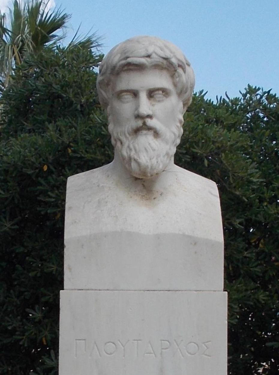 Modern bust at [[Chaeronea]] intended to represent Plutarch, based on a bust from Delphi once identified as Plutarch, but now no longer