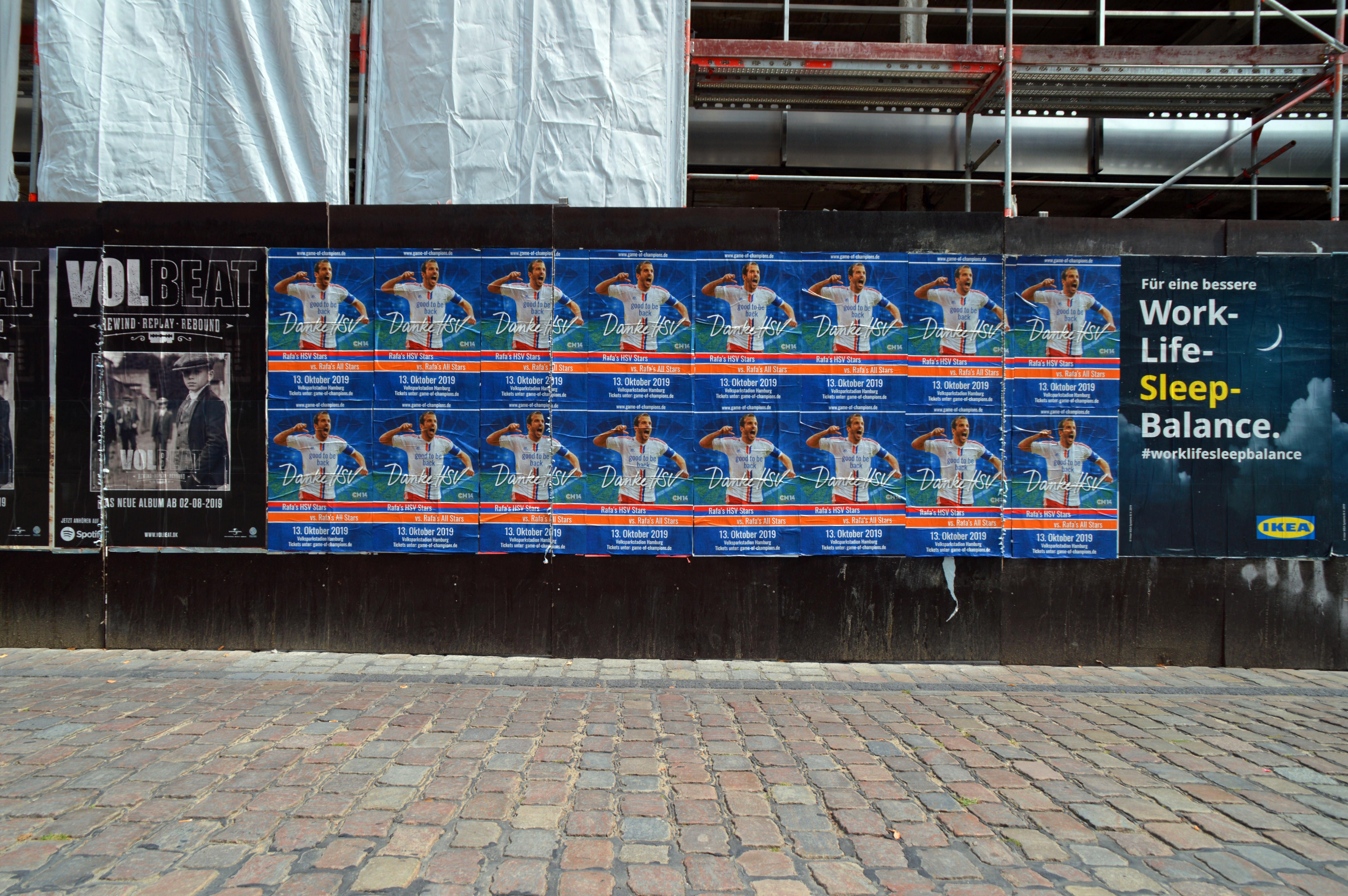 File Poster Afscheidswedstrijd Rafael Van Der Vaart Bij Voetbalclub Hamburger Sv Hamburg Jpg Wikimedia Commons