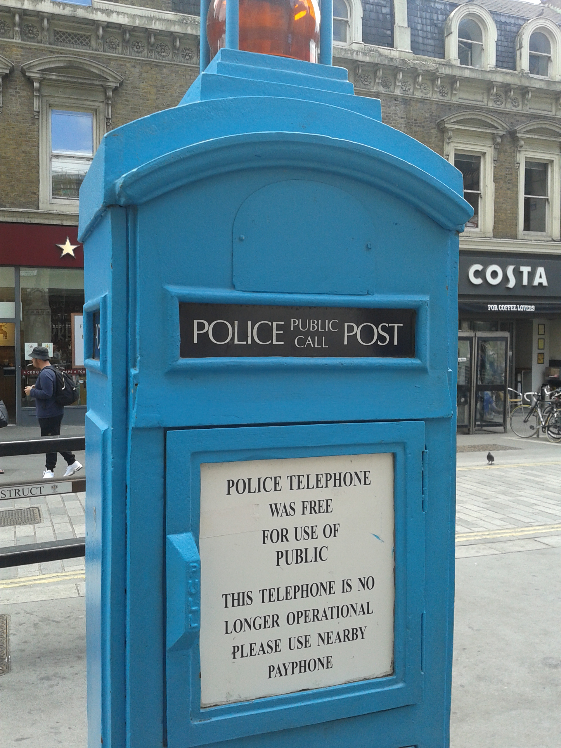 Filepublic Police Phone In London Near Liverpool Street