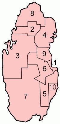 Le 10 municipalità del Qatar