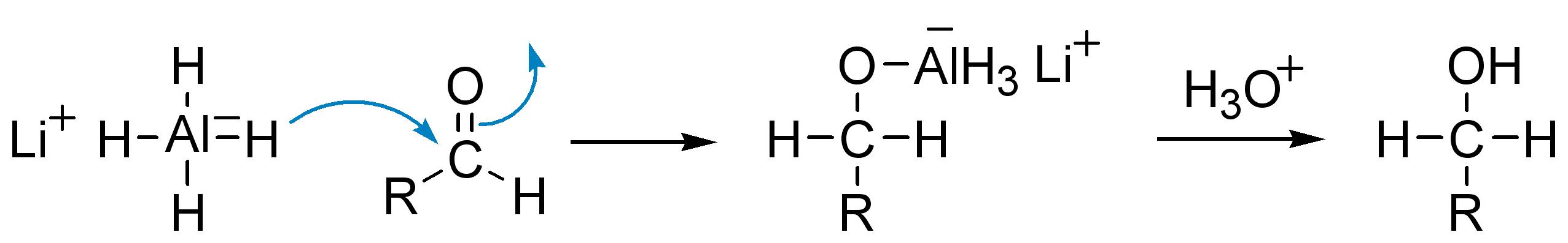 Восстановление альдегидов алюмогидридом лития