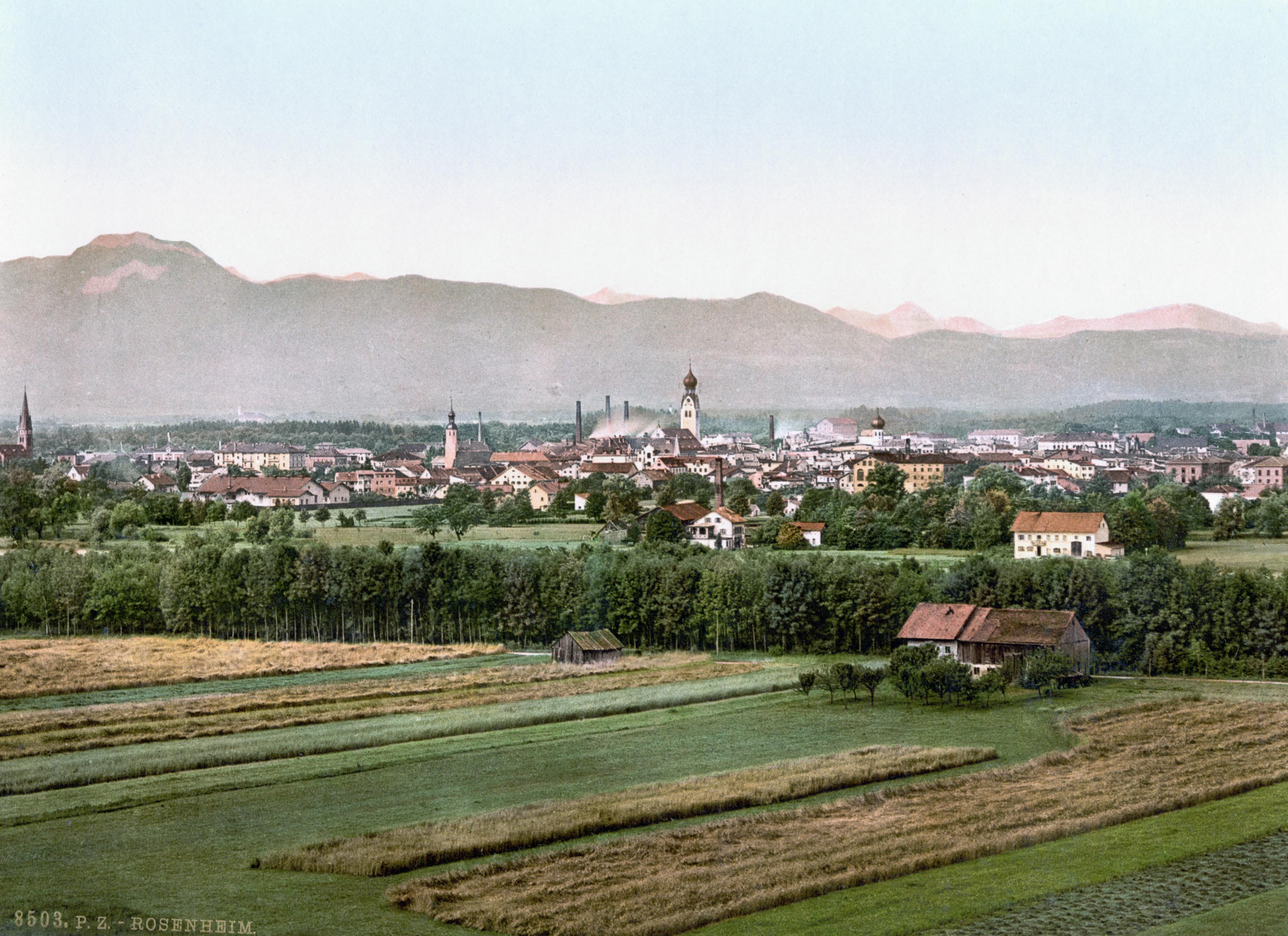 Rosenheim Germany  city photos gallery : Datei:Rosenheim 1900 – Wikipedia