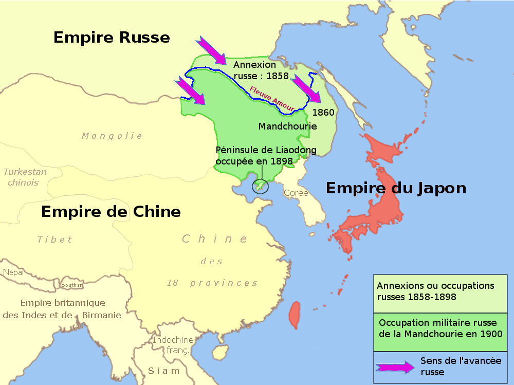File:Russia China Mandchuria Map 1858 1904 Fr.