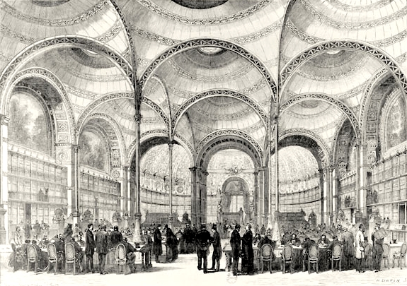 Inauguration de la salle Labrouste en juin 1868