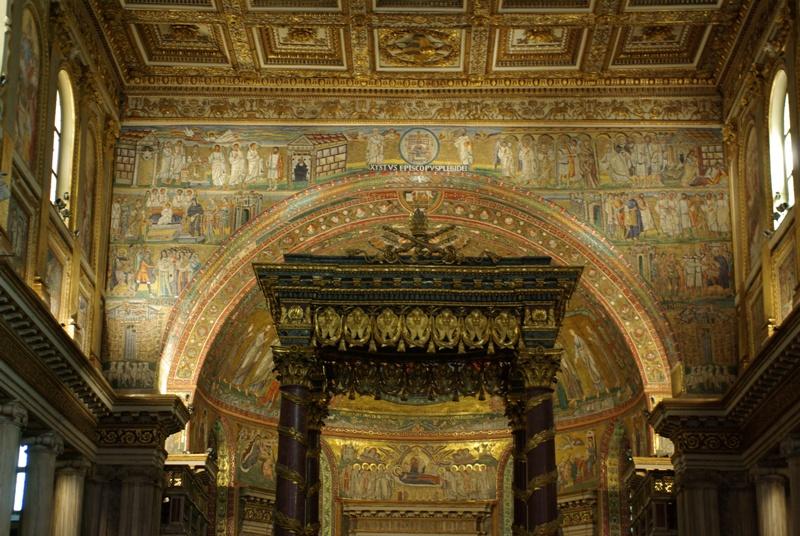Santa Maria Maggiore, apse mosaic.JPG