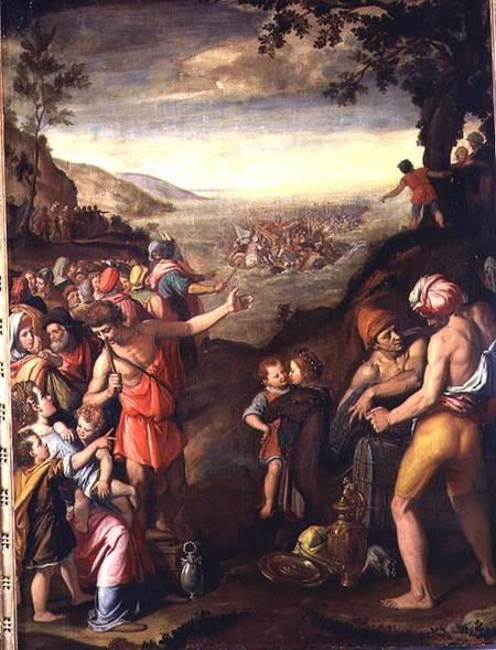 File Santi Di Tito El Paso Del Mar Rojo Studiolo Jpg Wikimedia Commons