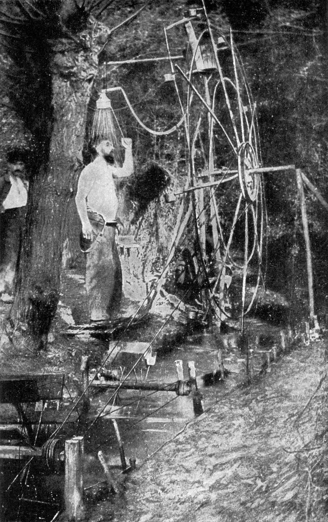 Improvisierte Dusche im 1. Weltkrieg - Quelle: Wikimedia
