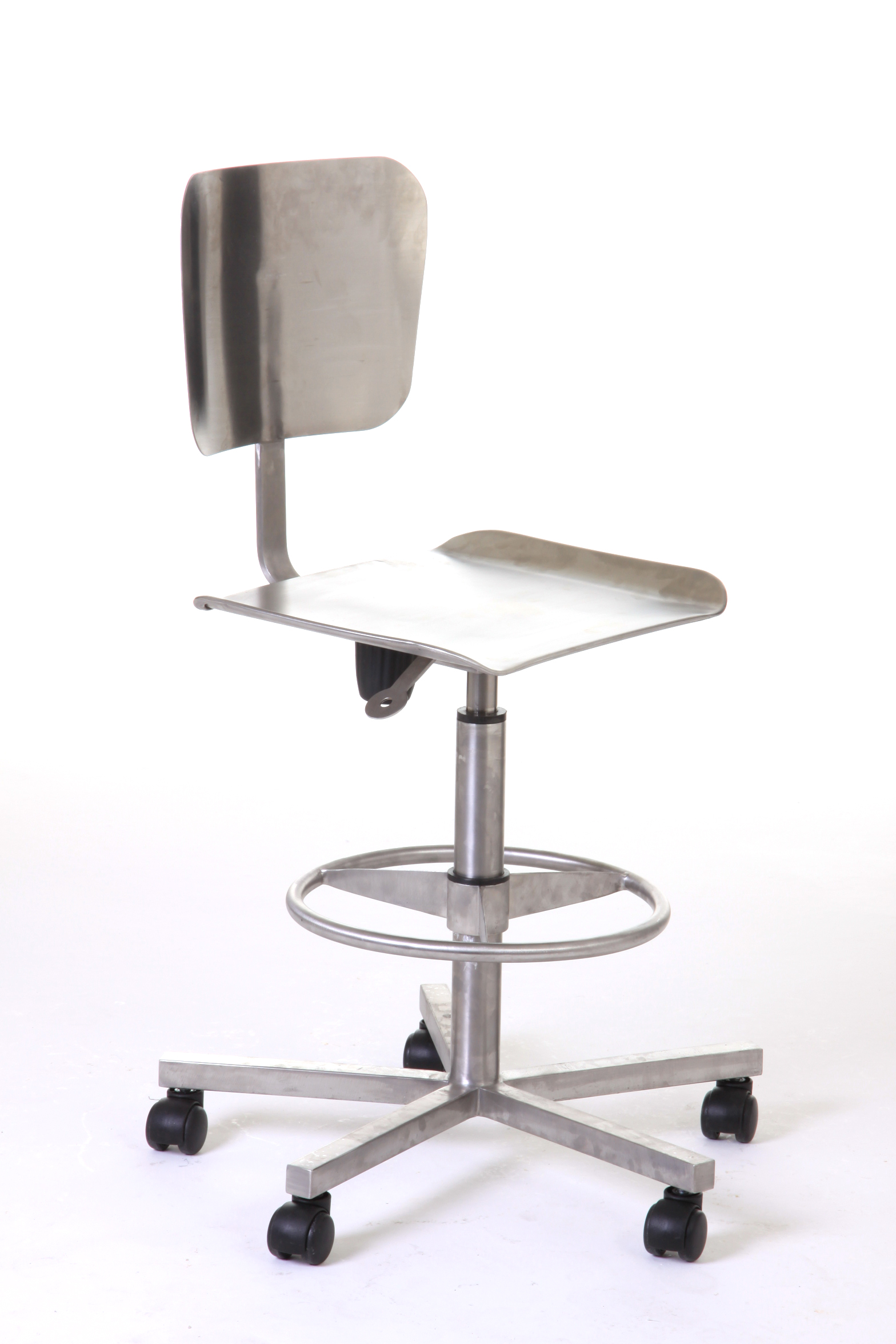 File:Stainless Steel Laboratory Pneumatic Chair With Wheels