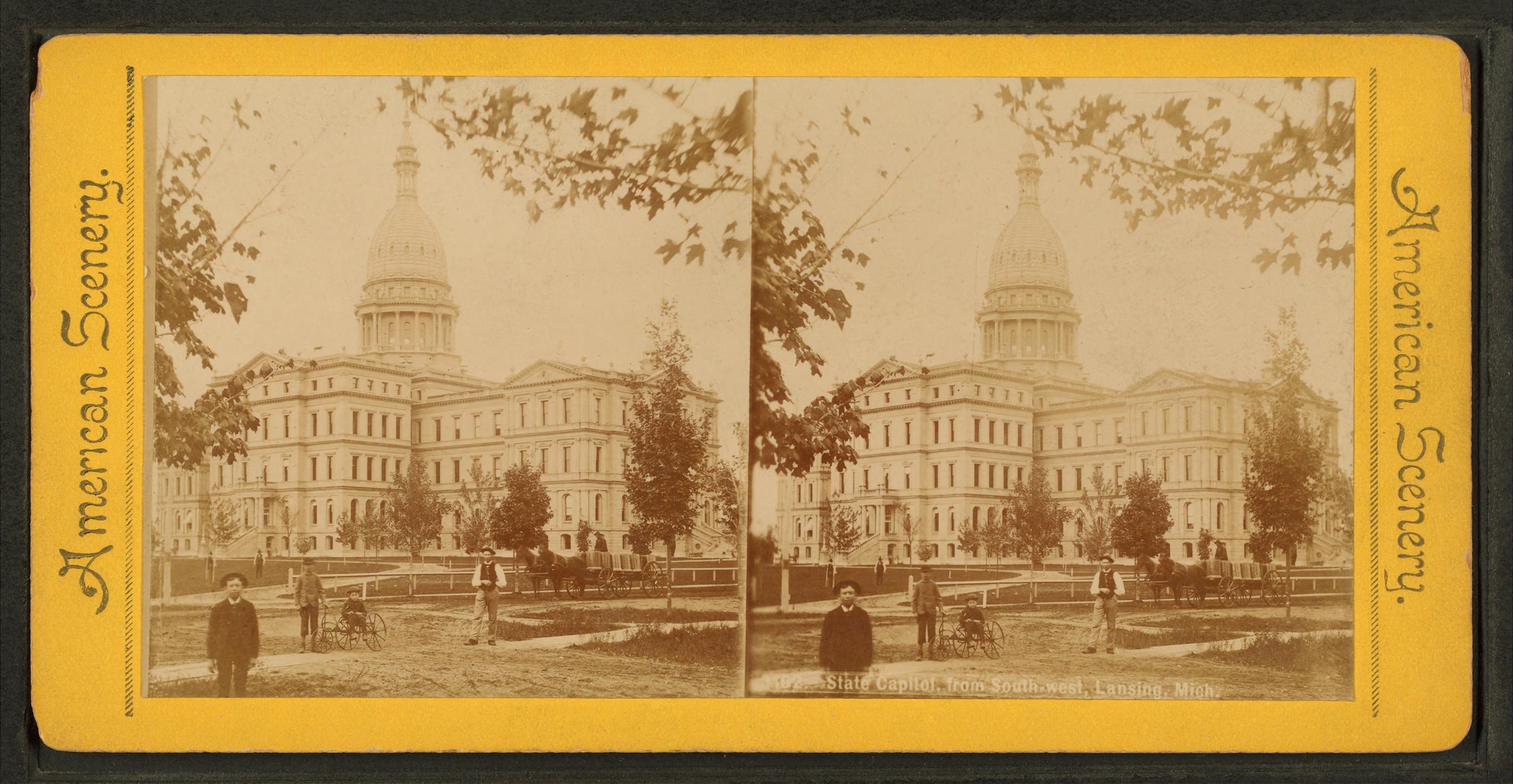 Michigan State Capitol, ca. 1885