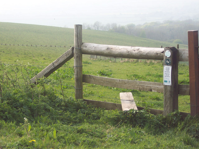Stile on the Hardy Way at Win Green - geograph.org.uk - 415199
