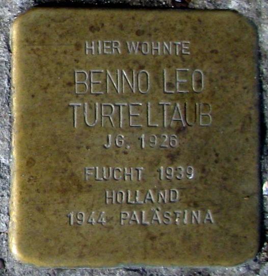 Stolpersteine Dortmund Heiligegartenstr. 6-8 Benno Turteltaub.jpg