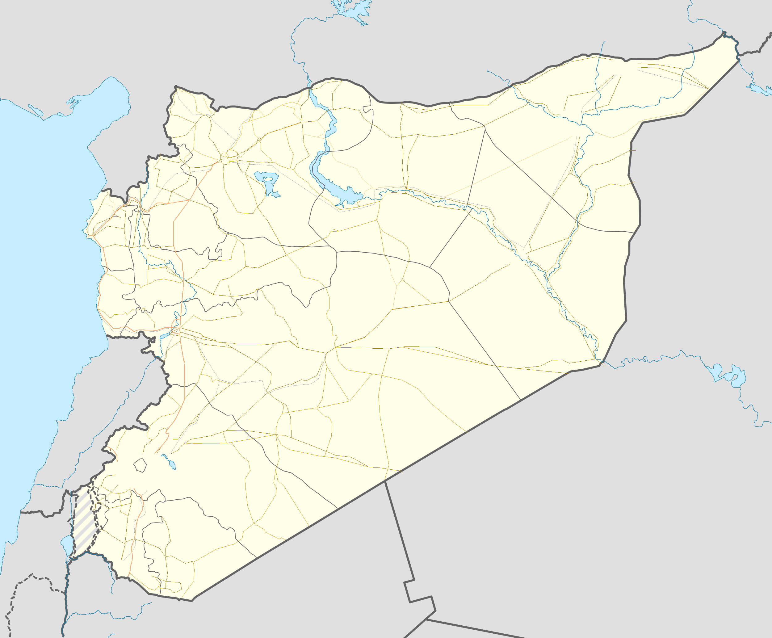 Template syrian civil war detailed map sandbox wikipedia for Syria war template