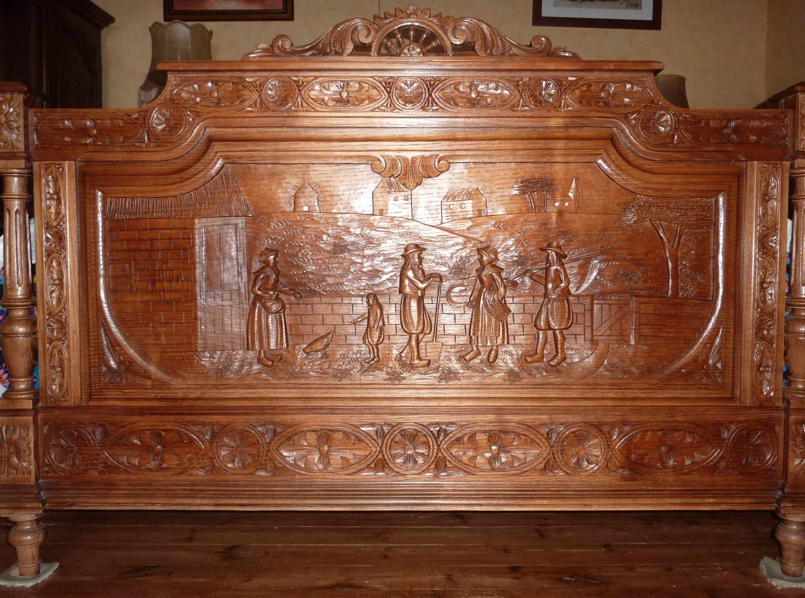 file t te de lit style breton jpg wikimedia commons. Black Bedroom Furniture Sets. Home Design Ideas