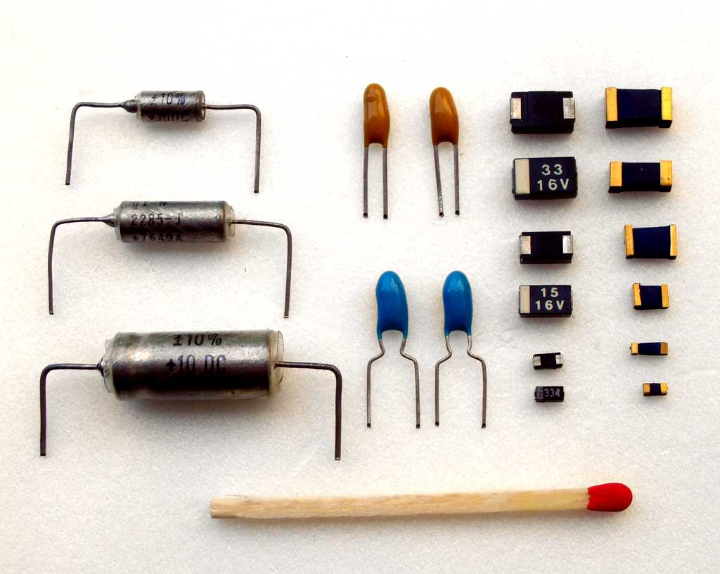 Tantalum capacitor on capacitor identification chart