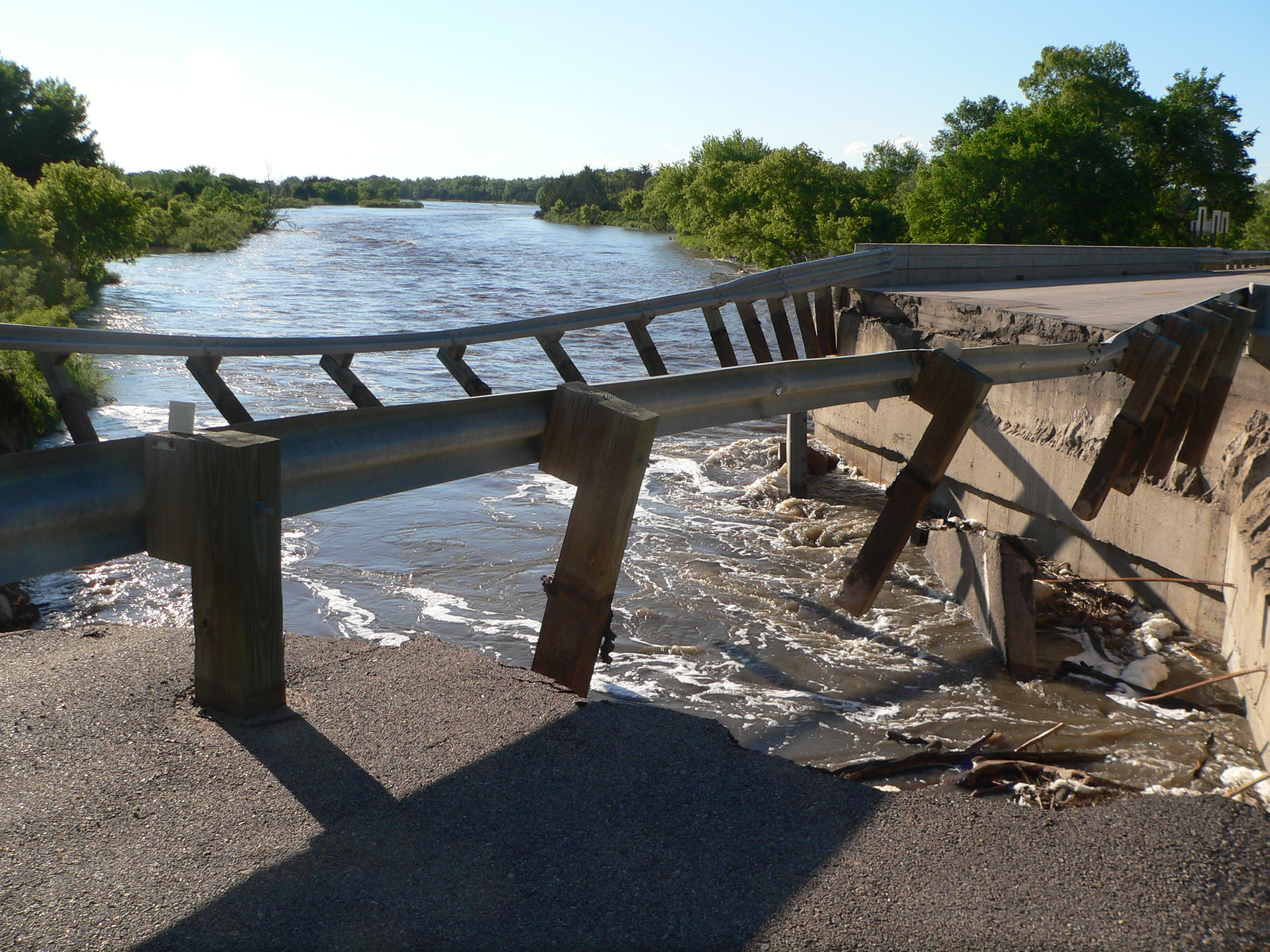 Taylor Nebraska Damaged Bridge