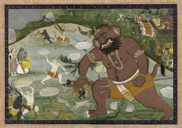 File:The battle between Hanuman and Kumbhakarna.jpg