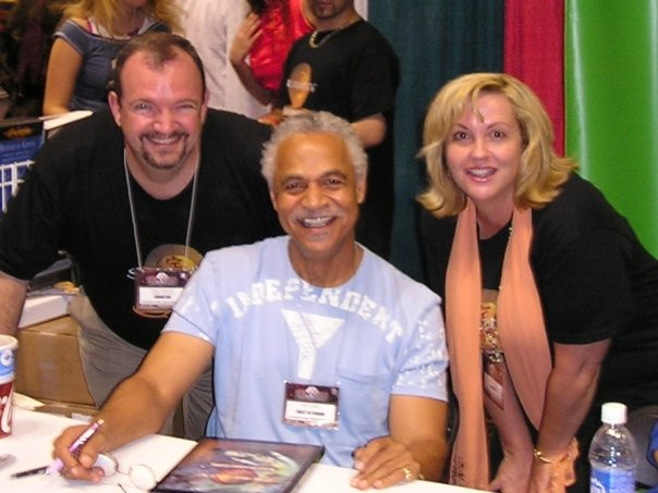 Tracy Hickman with Ron Glass and Laura Hickman.jpg