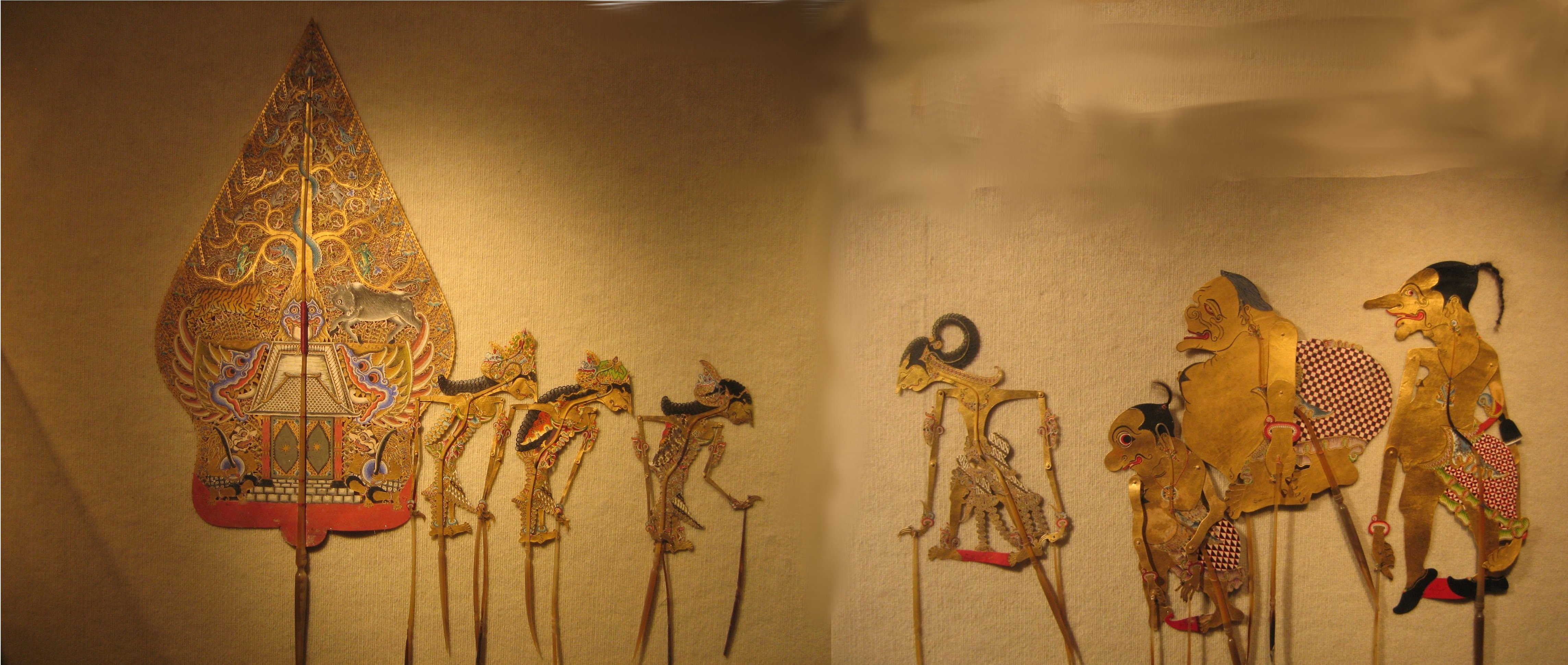 File:Wayang (shadow puppets) from central Java, a scene from 'Irawan's ...