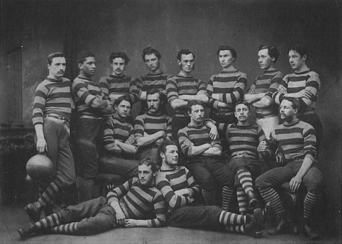 1871 photo of the RHS Rugby Team