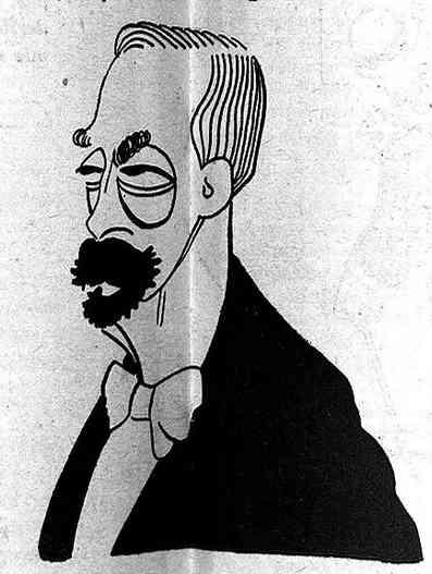 Caricaturizado por Bagaría (1908)