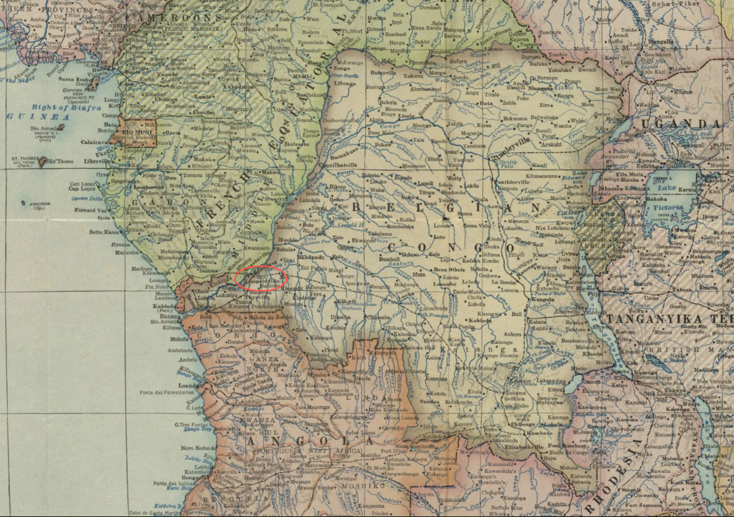 Map Of Europe 1922.File 1922 Leopoldville Detail Map Of Africa And Adjoining Portions