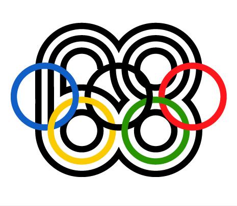 Mexico 68 logo Lance Wyman, Public domain, via Wikimedia Commons