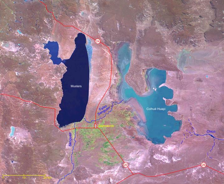 Vista de satélite de la laguna
