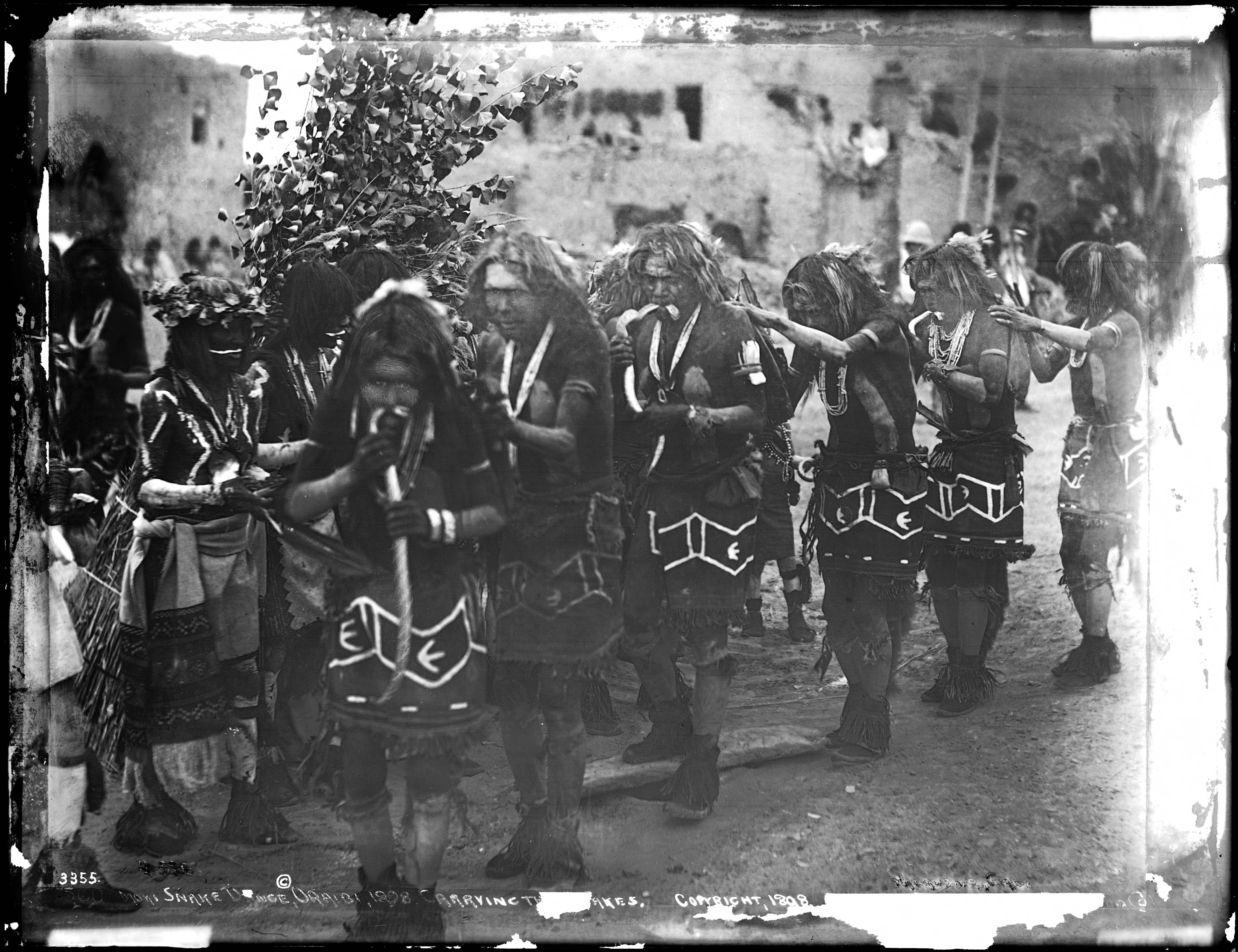 File A Line Of Dancing Braves In The Hopi Snake Dance