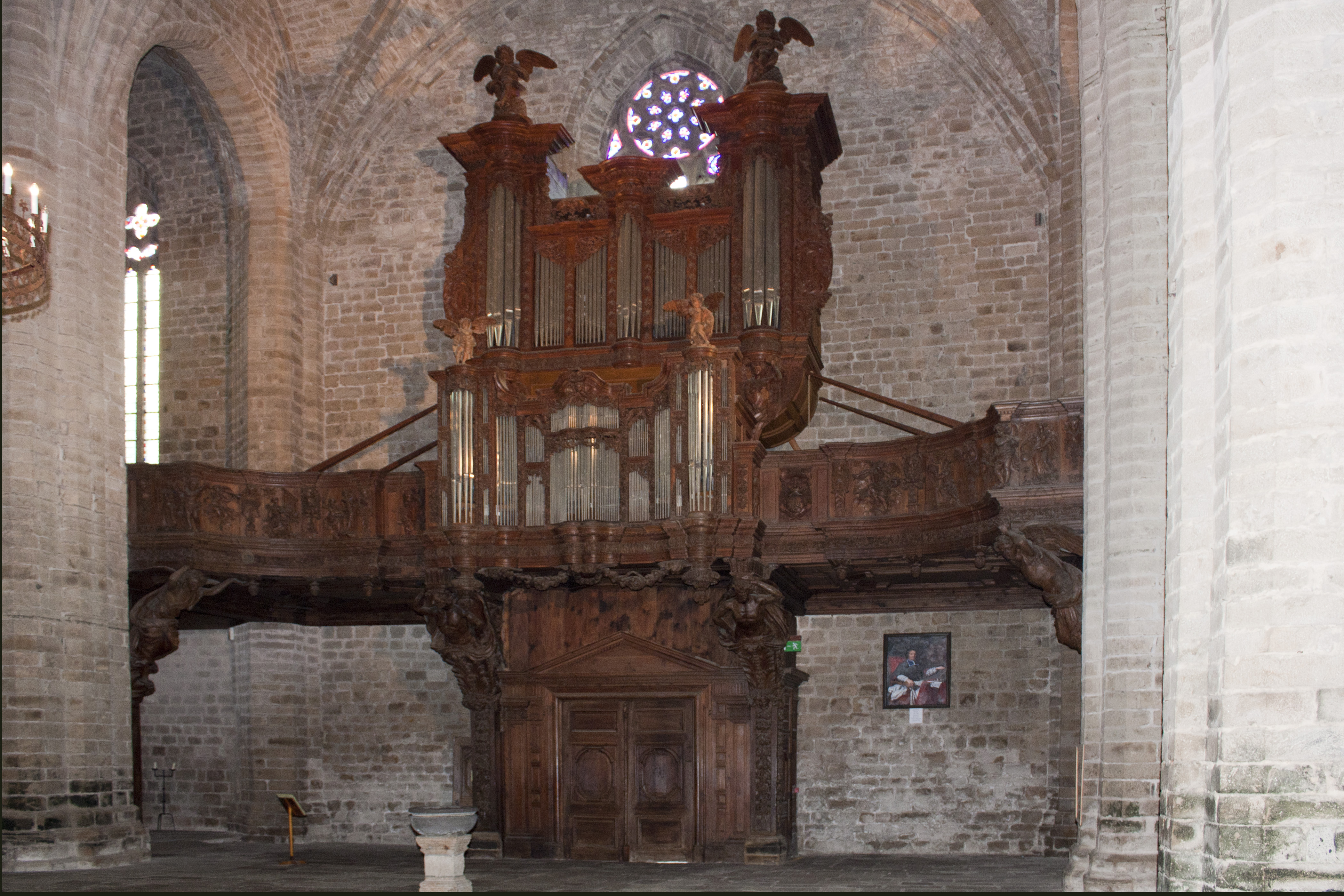 file abbaye saint robert de la chaise dieu orgue wikimedia commons. Black Bedroom Furniture Sets. Home Design Ideas