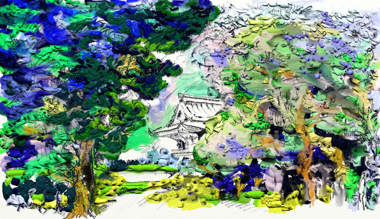 File Artrage Painting Of Temple Showing Different Pen