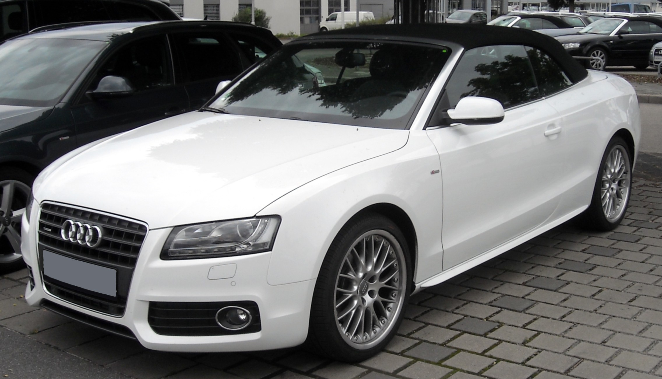 file audi a5 cabrio front wikimedia commons. Black Bedroom Furniture Sets. Home Design Ideas