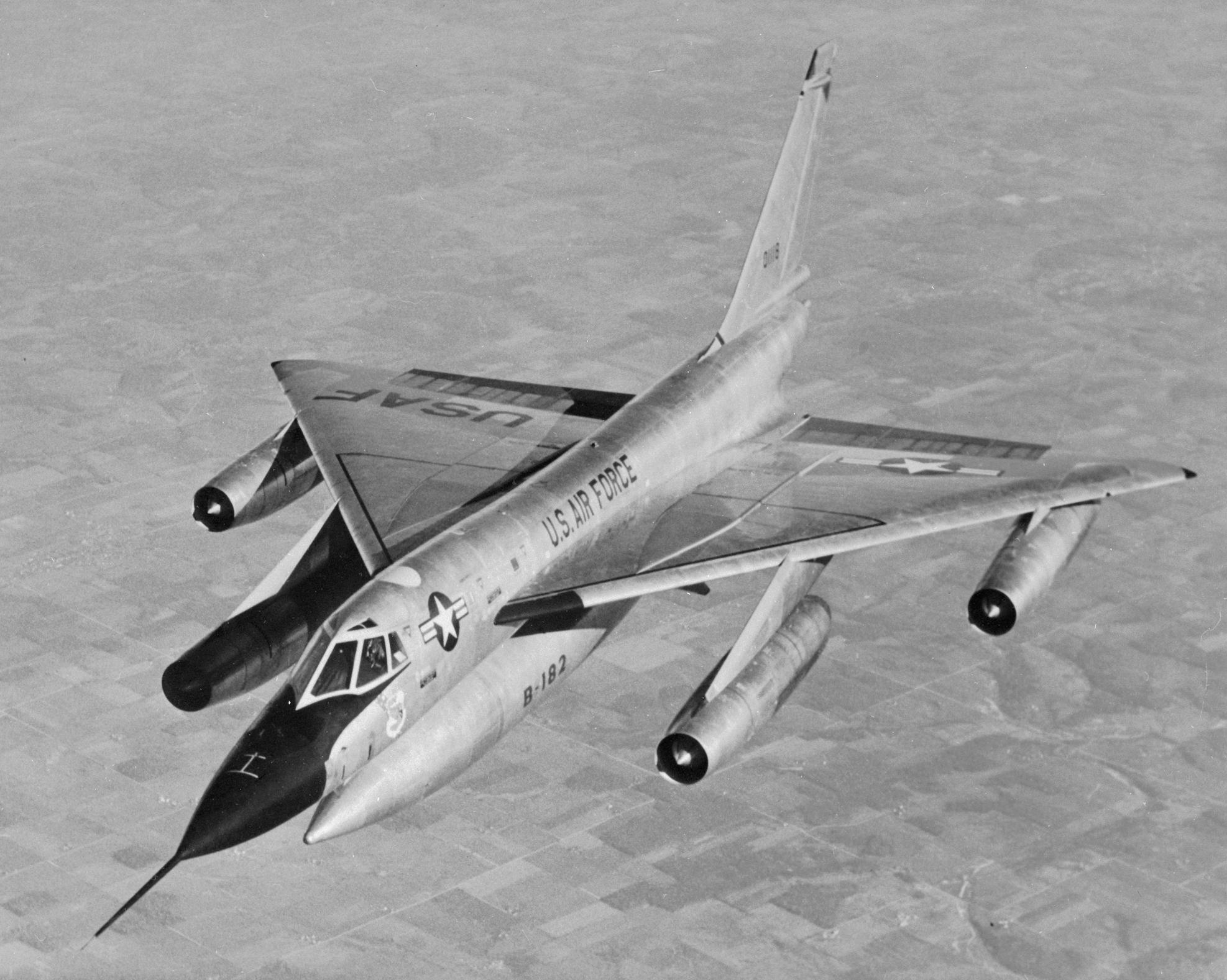 Depiction of Convair B-58 Hustler