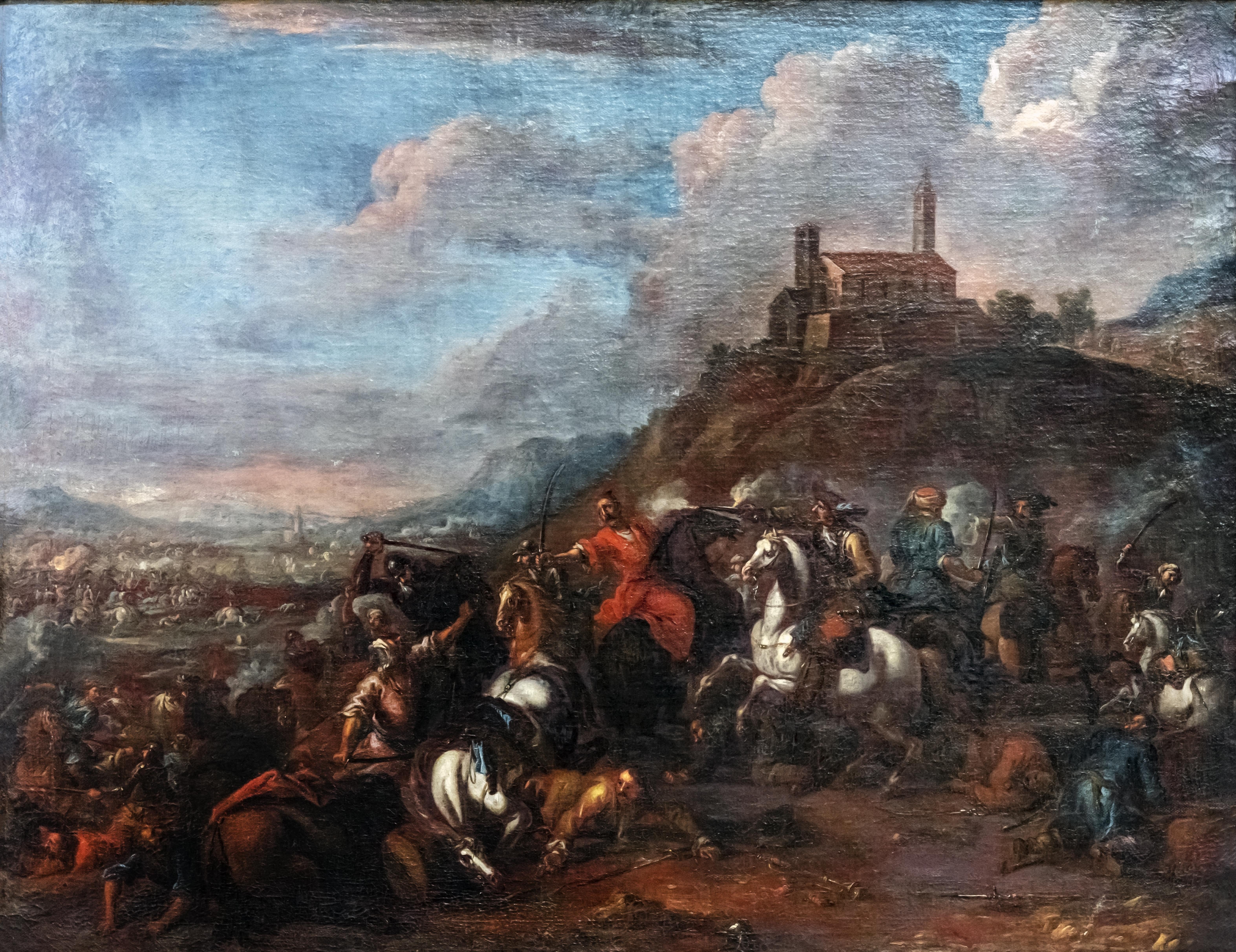 Beaux-Arts de Carcassonne - Combat de chretiens et de turcs - Joseph Parrocel 892.1.195 Joconde04400000503.jpg