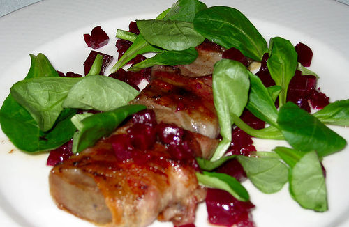 Tongue And Pancetta With Mache
