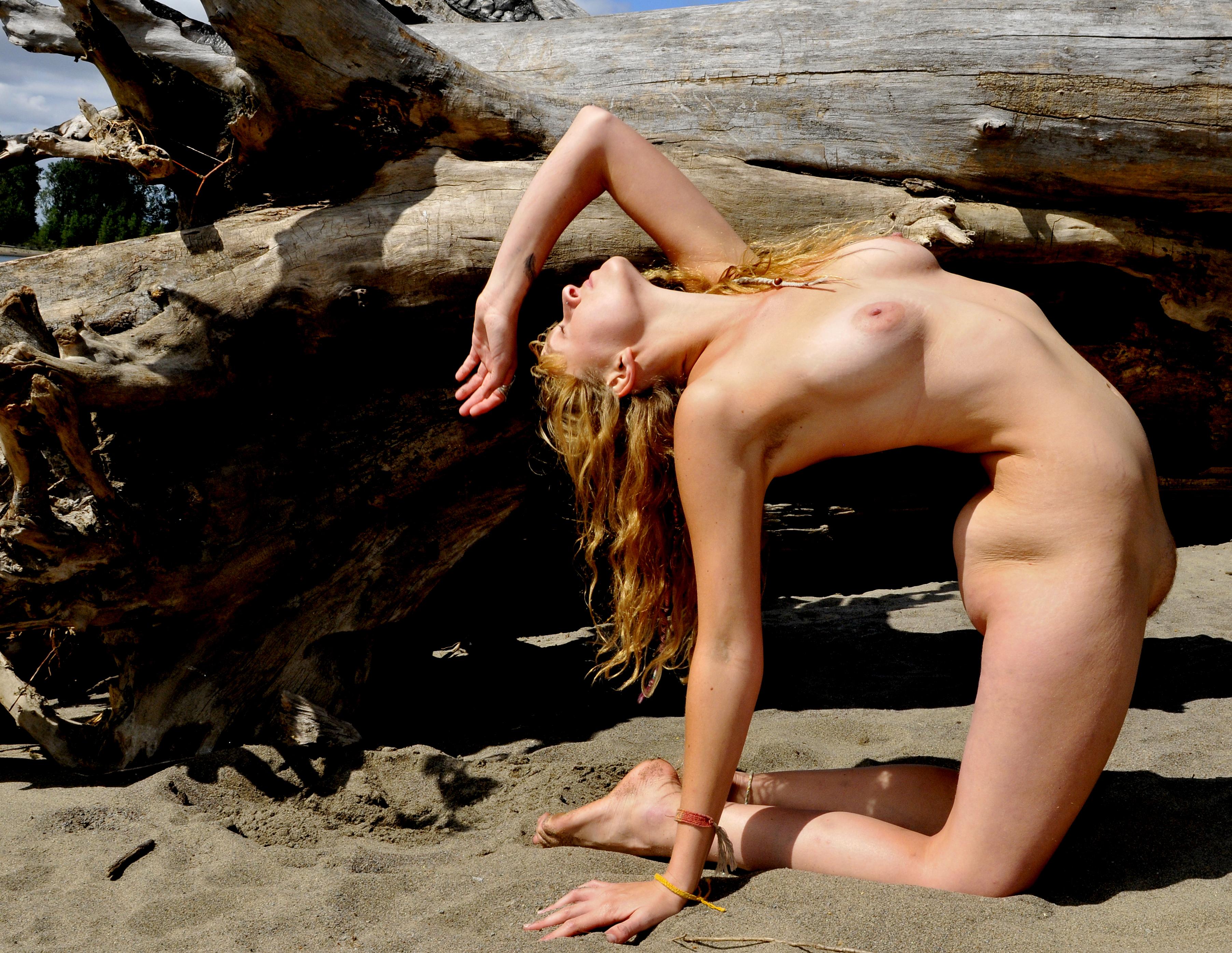 Bent over beach girl