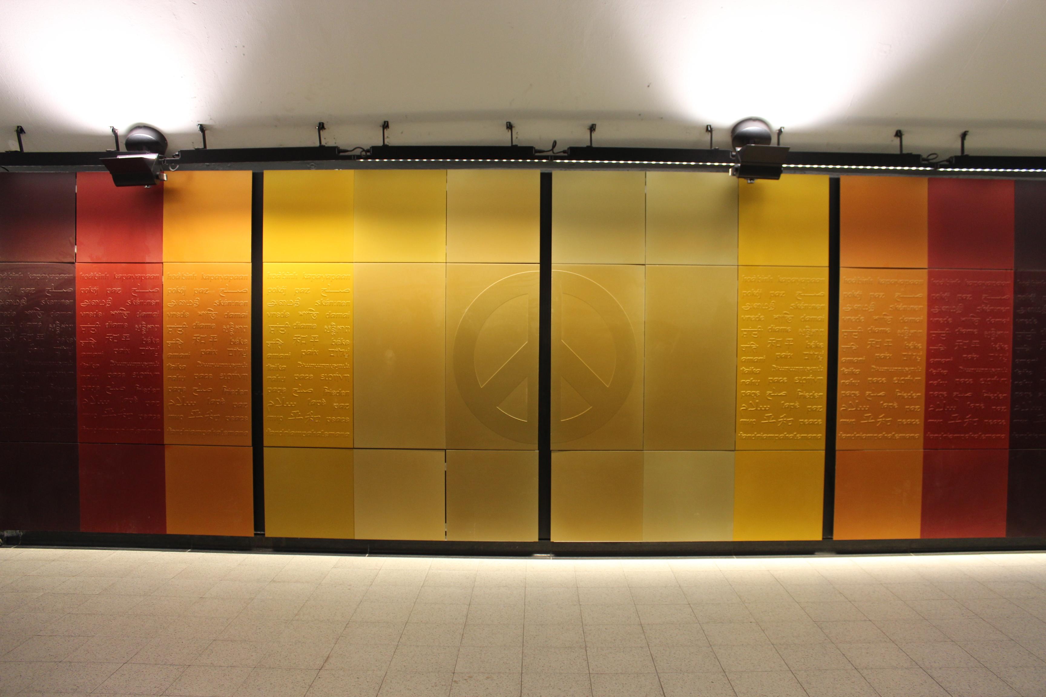 fileberriuqam peace wall artwork montreal metro  wikimedia  - fileberriuqam peace wall artwork montreal metro