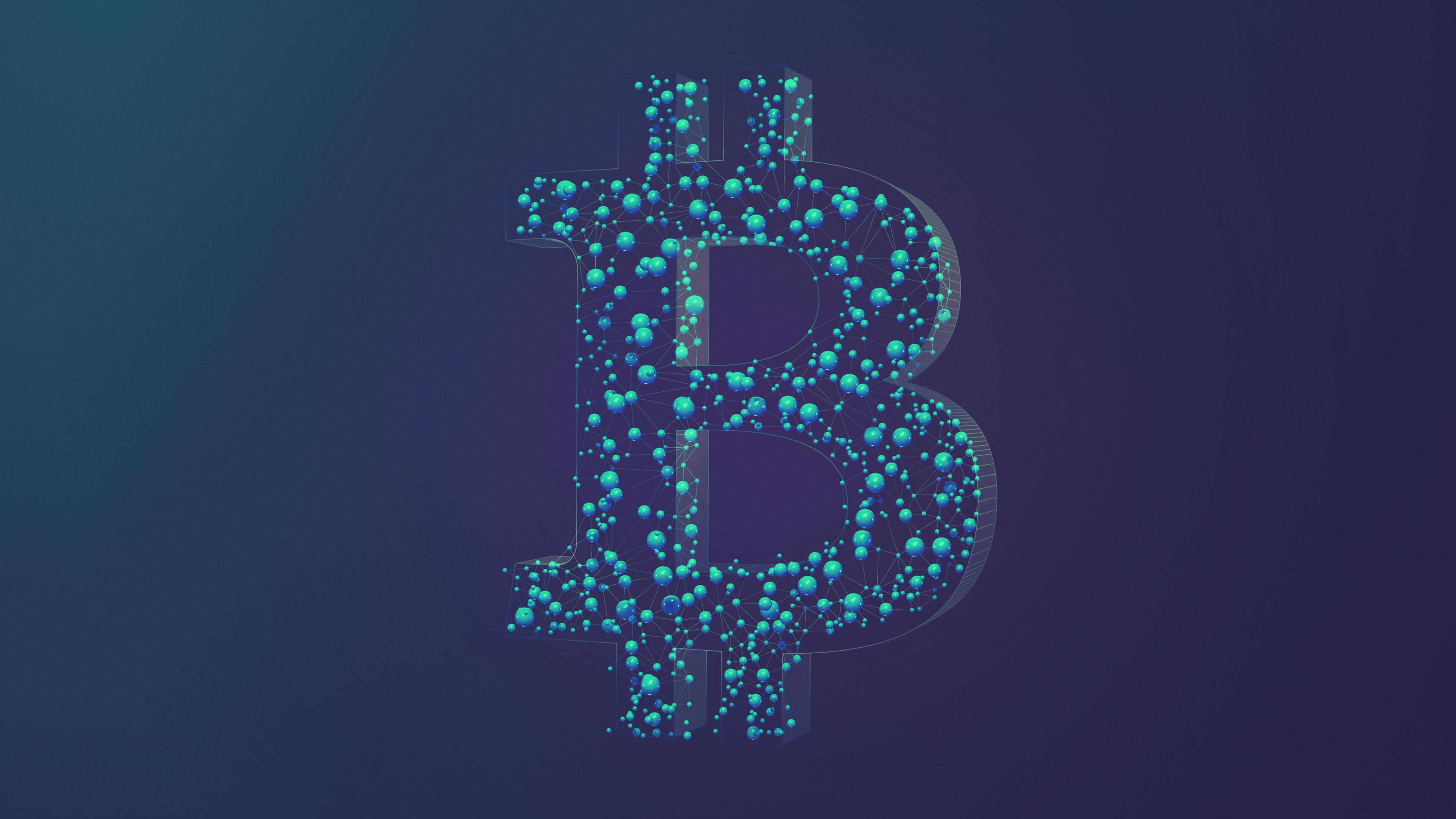 Bitcoin In Wikipedia >> File:Bitcoin Network Blue 4k.jpg - Wikimedia Commons